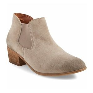 BP taupe suede booties